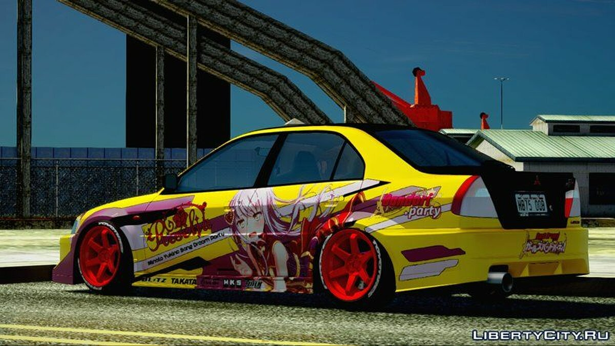 Машина Mitsubishi 1999 Mitsubishi Lancer Evolution VI GSR With BanG Dream! Itasha для GTA San Andreas
