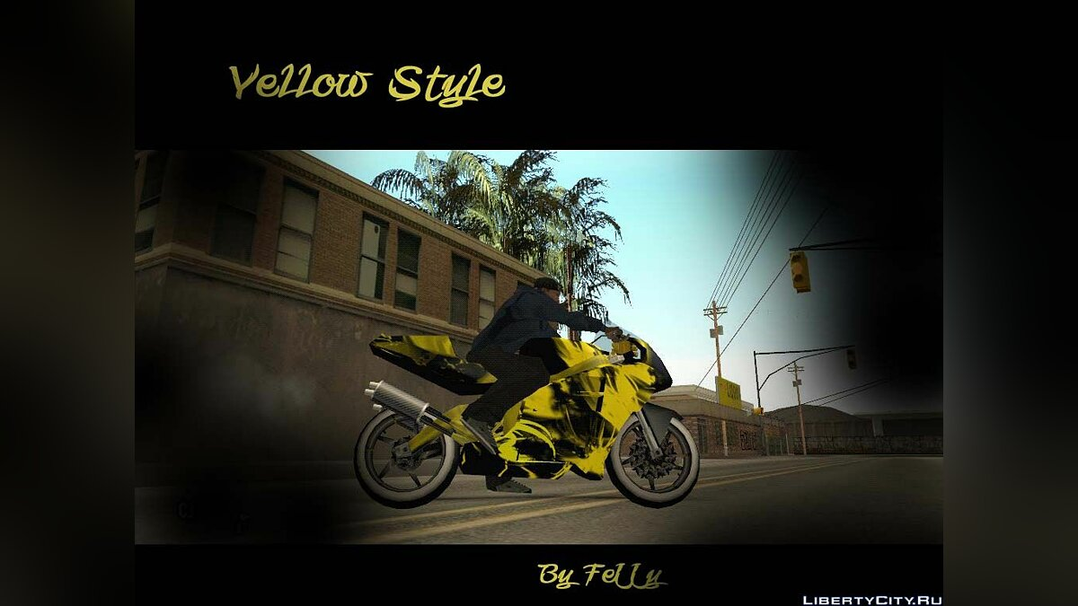 Yellow Race Nrg500 Skin для GTA San Andreas