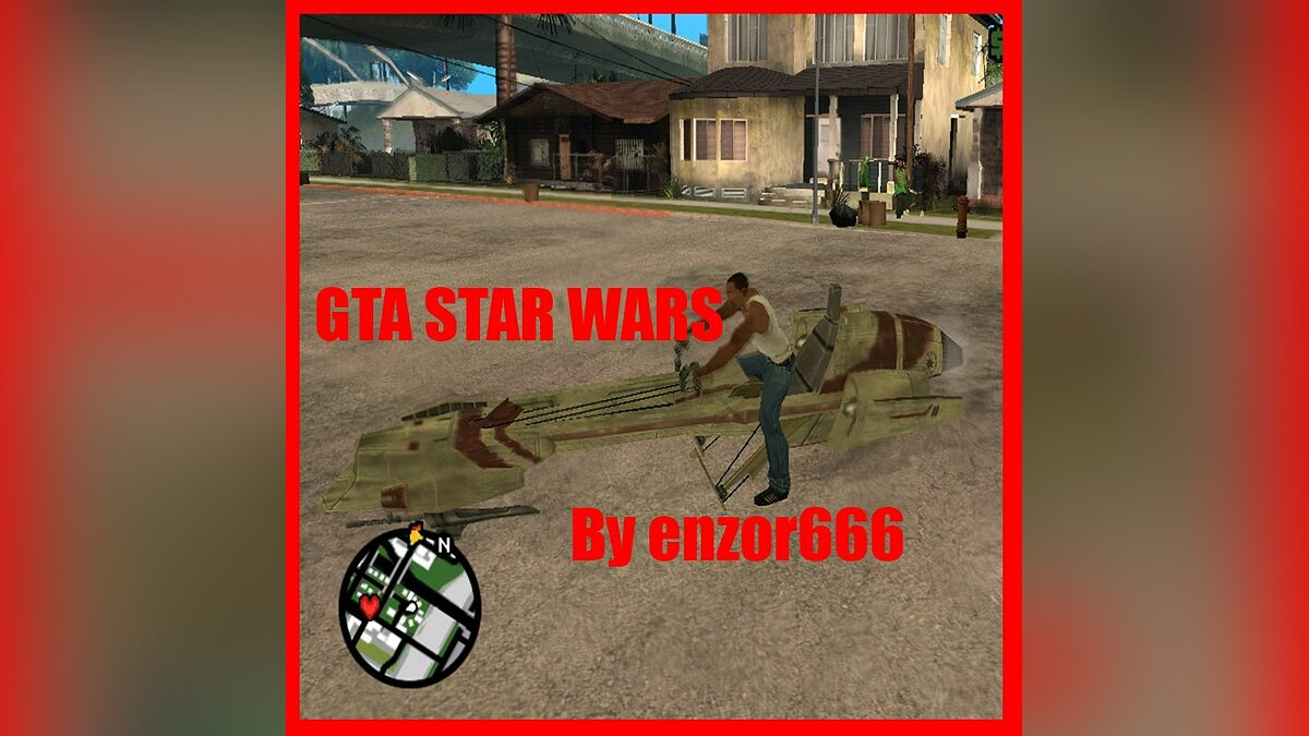 Star Wars speedbike для GTA San Andreas