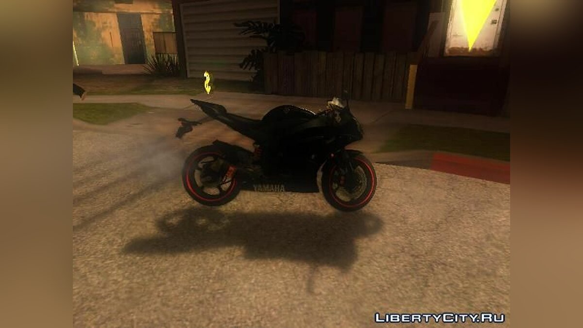 Yamaha R25 Black Edition для GTA San Andreas - скриншот #2