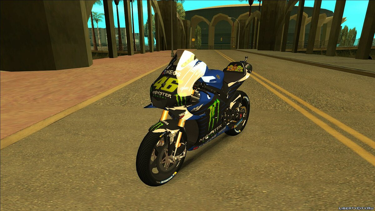 Мотоцикл [MotoGP 2019] YAMAHA YZR-M1 MONSTER ENERGY для GTA San Andreas
