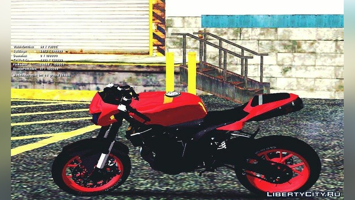 Kawasaki Ninja 250 R Streetrace Naked Bike для GTA San Andreas - скриншот #2