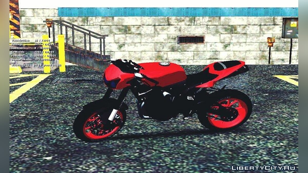 Kawasaki Ninja 250 R Streetrace Naked Bike для GTA San Andreas - скриншот #3