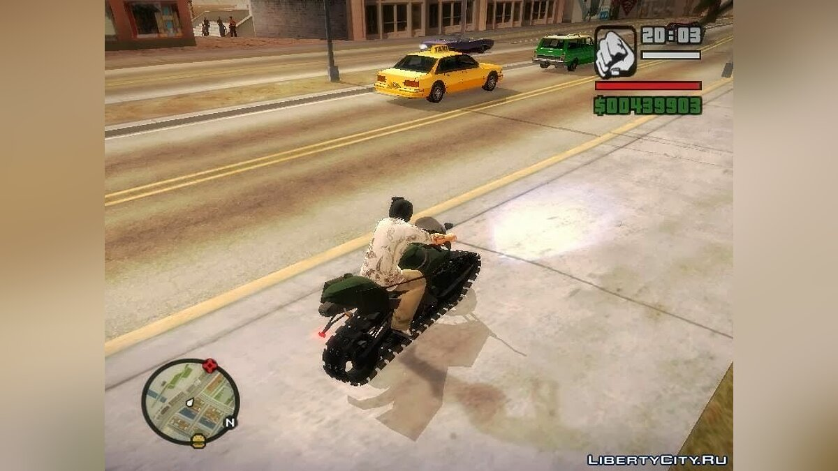Panzercycle from Mercenaries 2: World in Flames для GTA San Andreas - скриншот #4