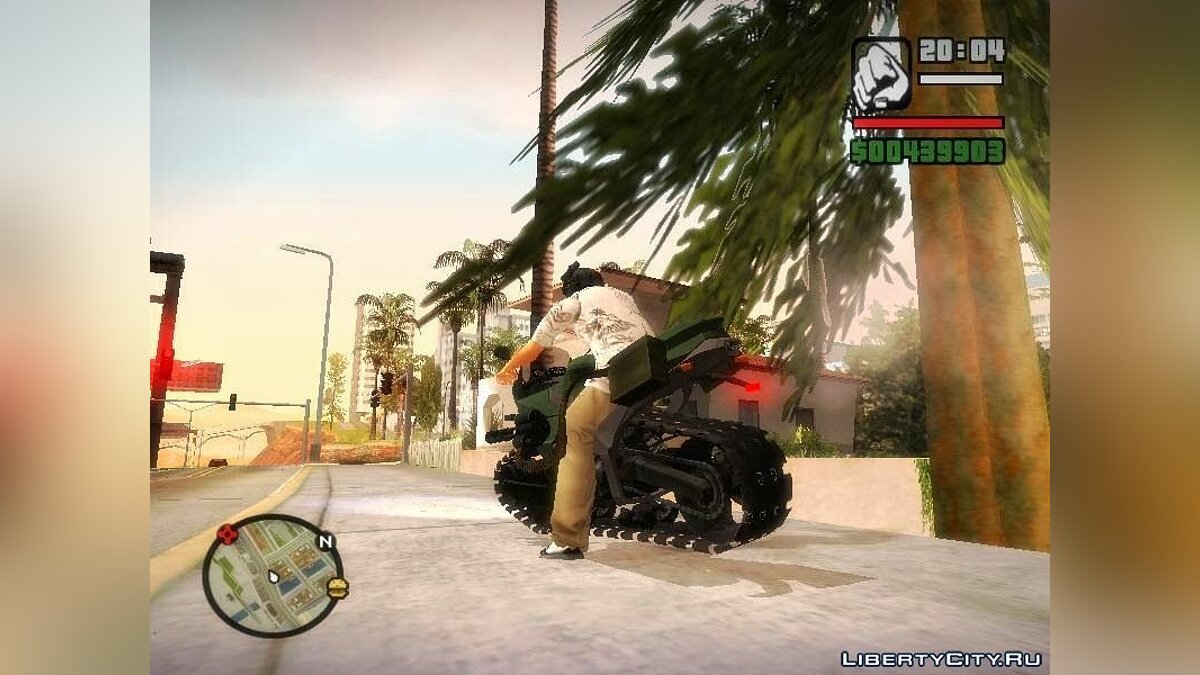 Panzercycle from Mercenaries 2: World in Flames для GTA San Andreas - скриншот #2