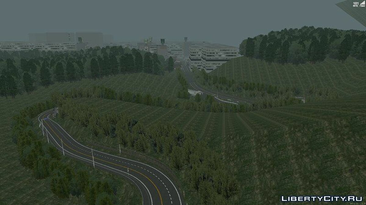 Карта Akina Mountain Touge v1.2 (MTA:SA) для GTA San Andreas