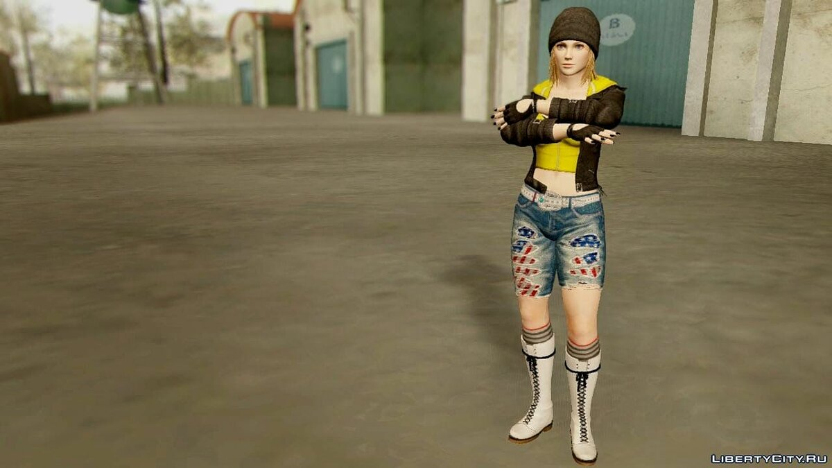 Dead Or Alive 5 Tina Casual для GTA San Andreas - скриншот #3