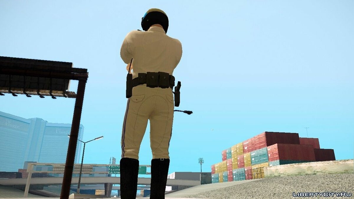 Michael De Santa - San Andreas Highway Patrol Uniform для GTA San Andreas - скриншот #2