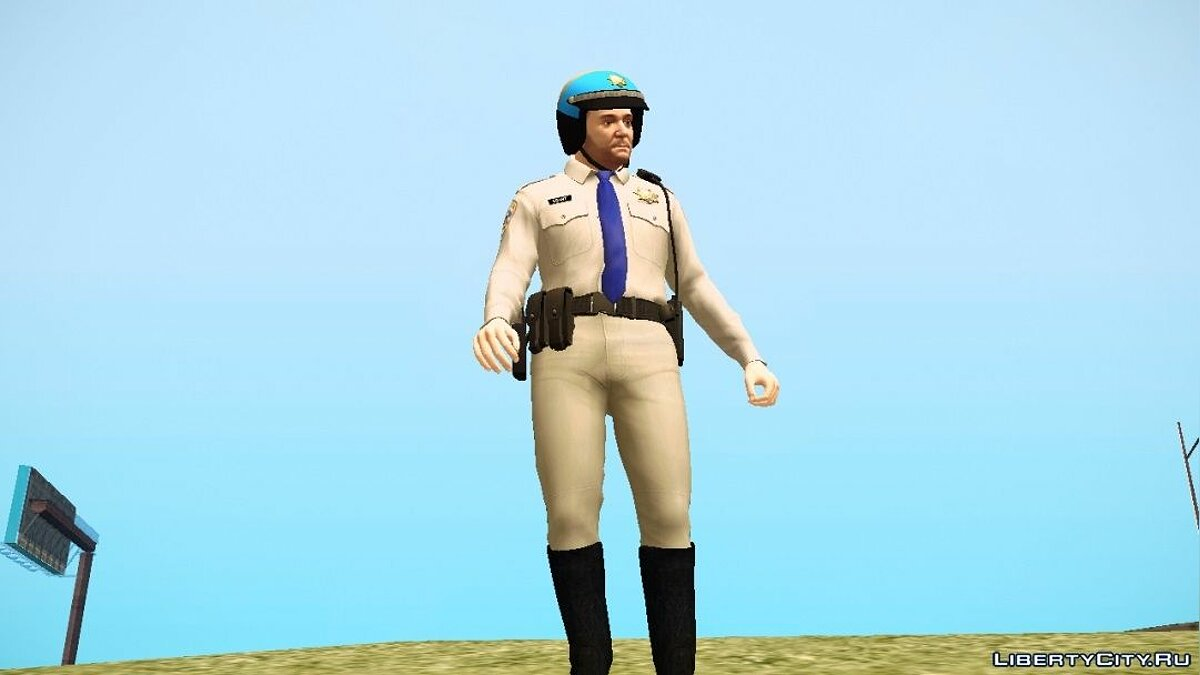 Michael De Santa - San Andreas Highway Patrol Uniform для GTA San Andreas