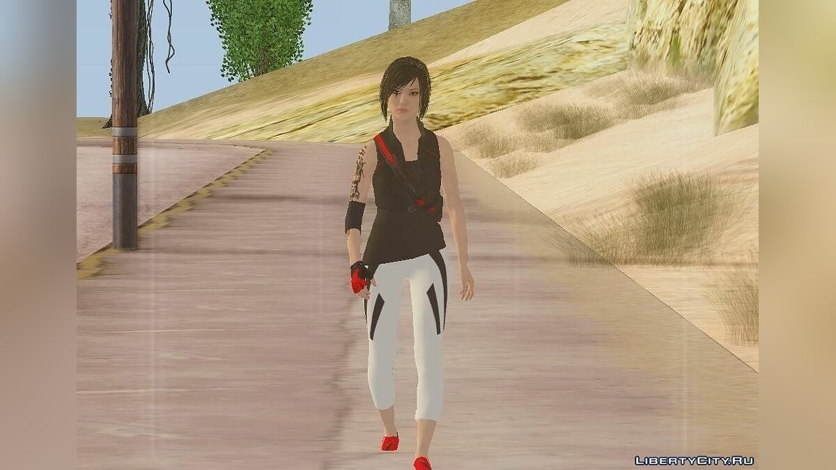 Faith Connors from Mirror's Edge для GTA San Andreas
