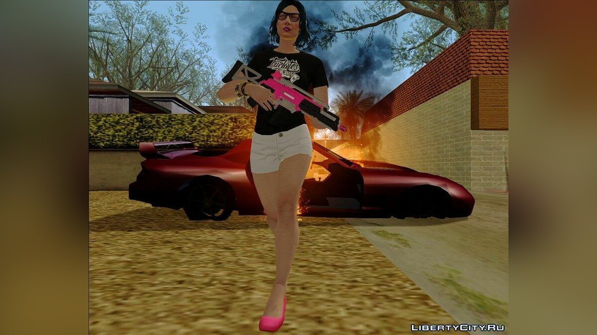 Skin Female #2 from GTA V Online для GTA San Andreas - скриншот #3