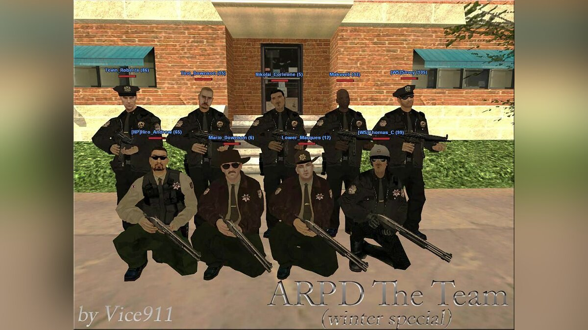 ARPD The TEAM mod winter для GTA San Andreas