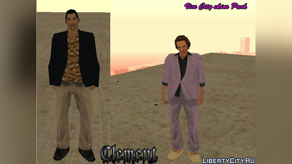 GTA Vice City skins pack для GTA San Andreas
