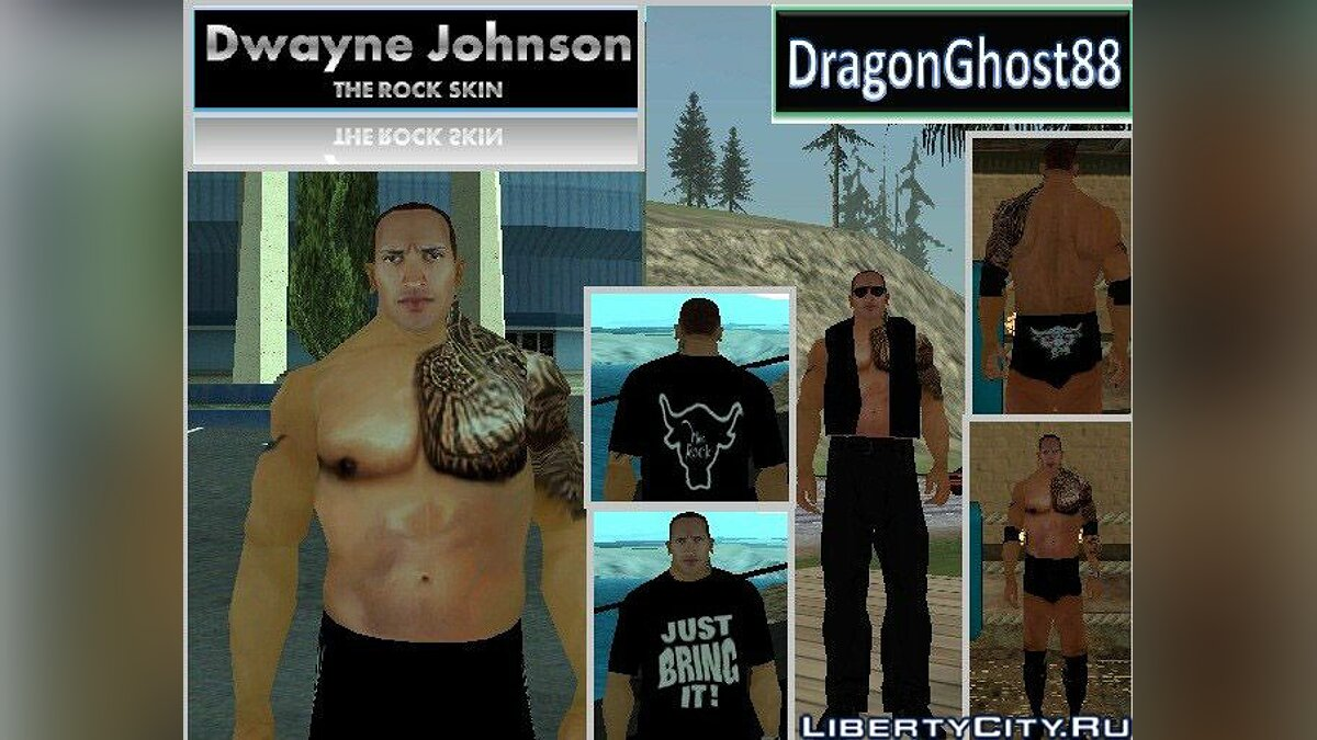 "Dwayne Johnson ""The Rock"" Skin для GTA San Andreas"