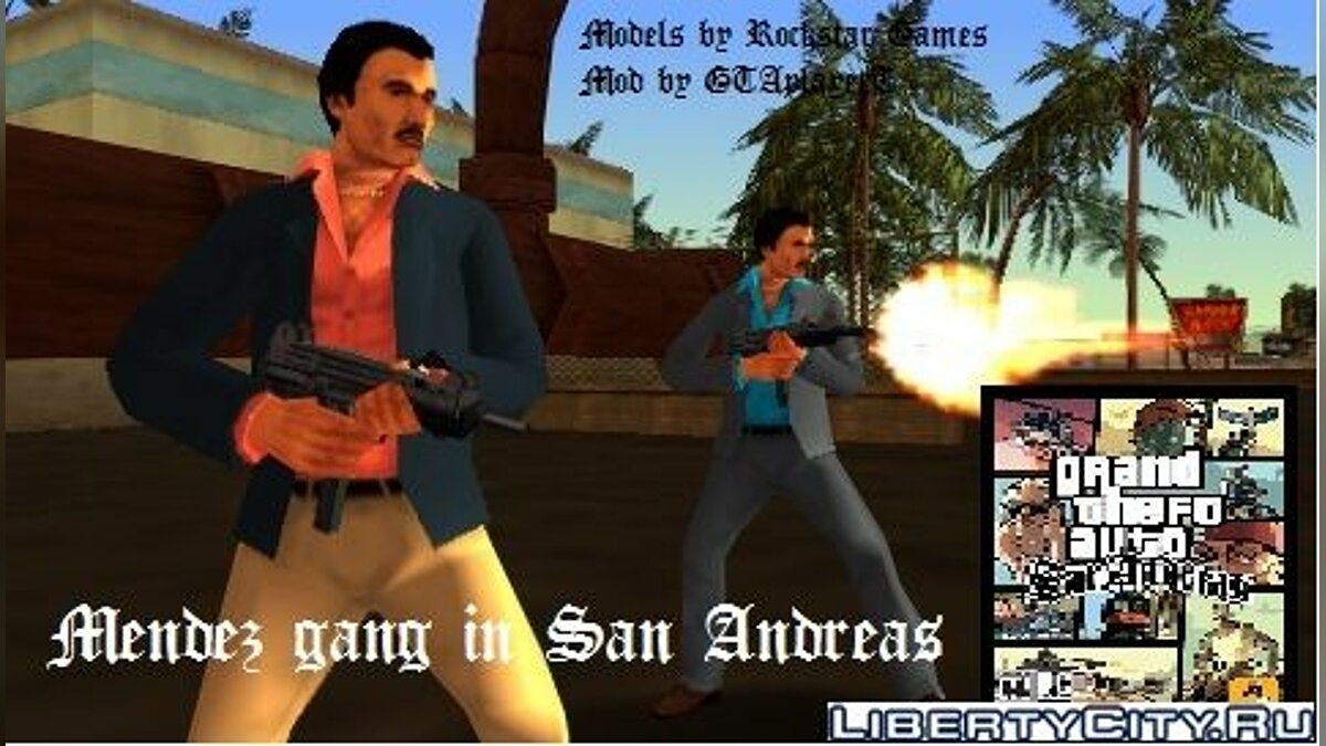 VCS Mendez gang in SA для GTA San Andreas