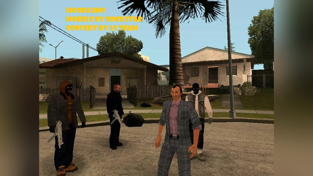 Hoodlums in mask для GTA San Andreas