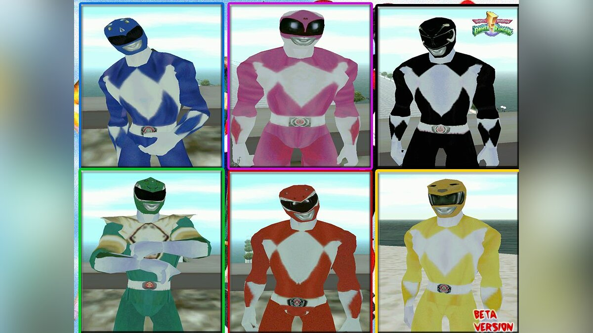 Mighty Morphin Power Rangers для GTA San Andreas