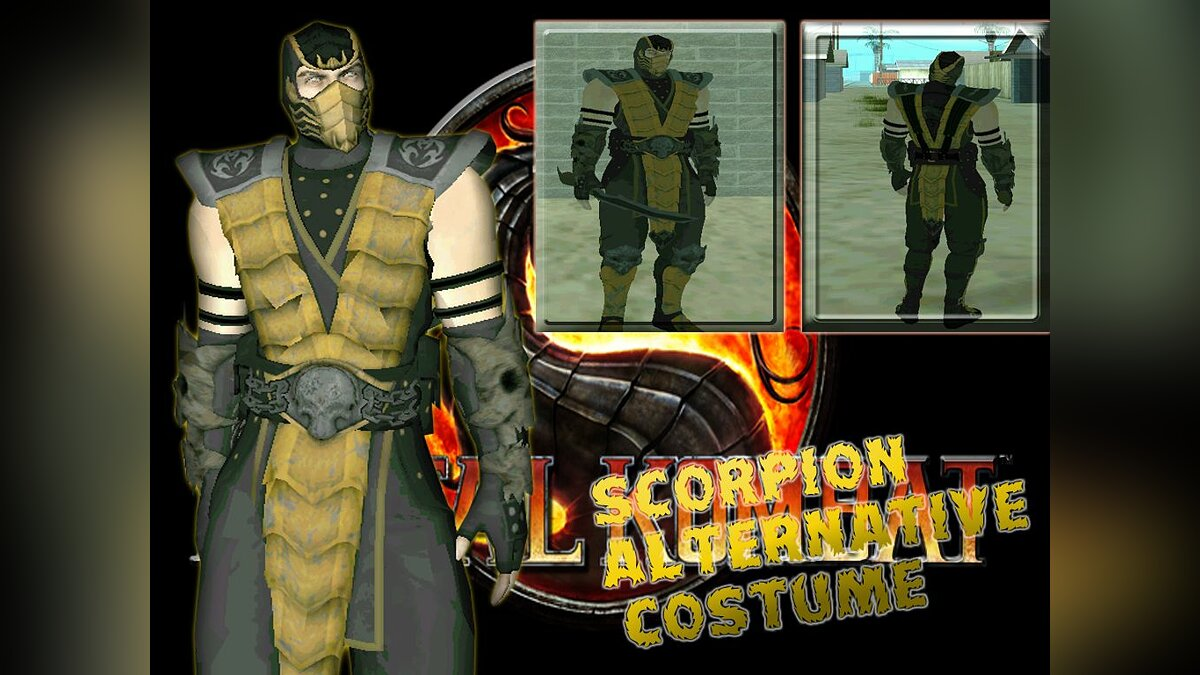 Scorpion alternative costume для GTA San Andreas