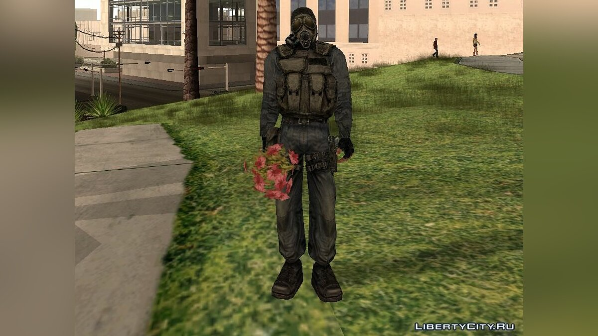 Mercenary With Gas Mask для GTA San Andreas