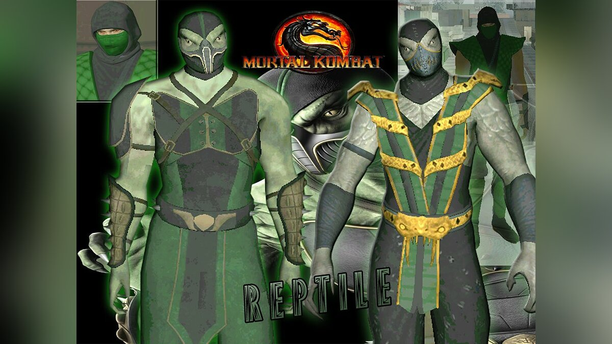 Reptile from mortal kombat 9 для GTA San Andreas