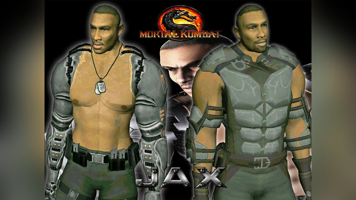 Jax from mortal kombat 9 для GTA San Andreas