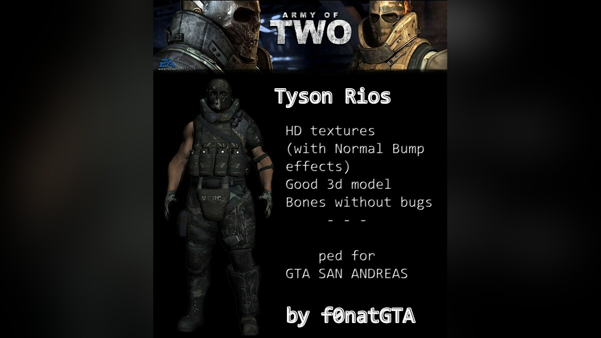 Tyson Rios from Army of Two для GTA San Andreas