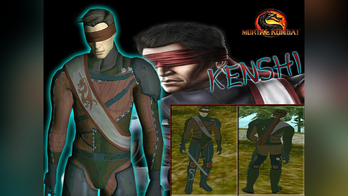 DLC Kenshi from mortal kombat 9. для GTA San Andreas