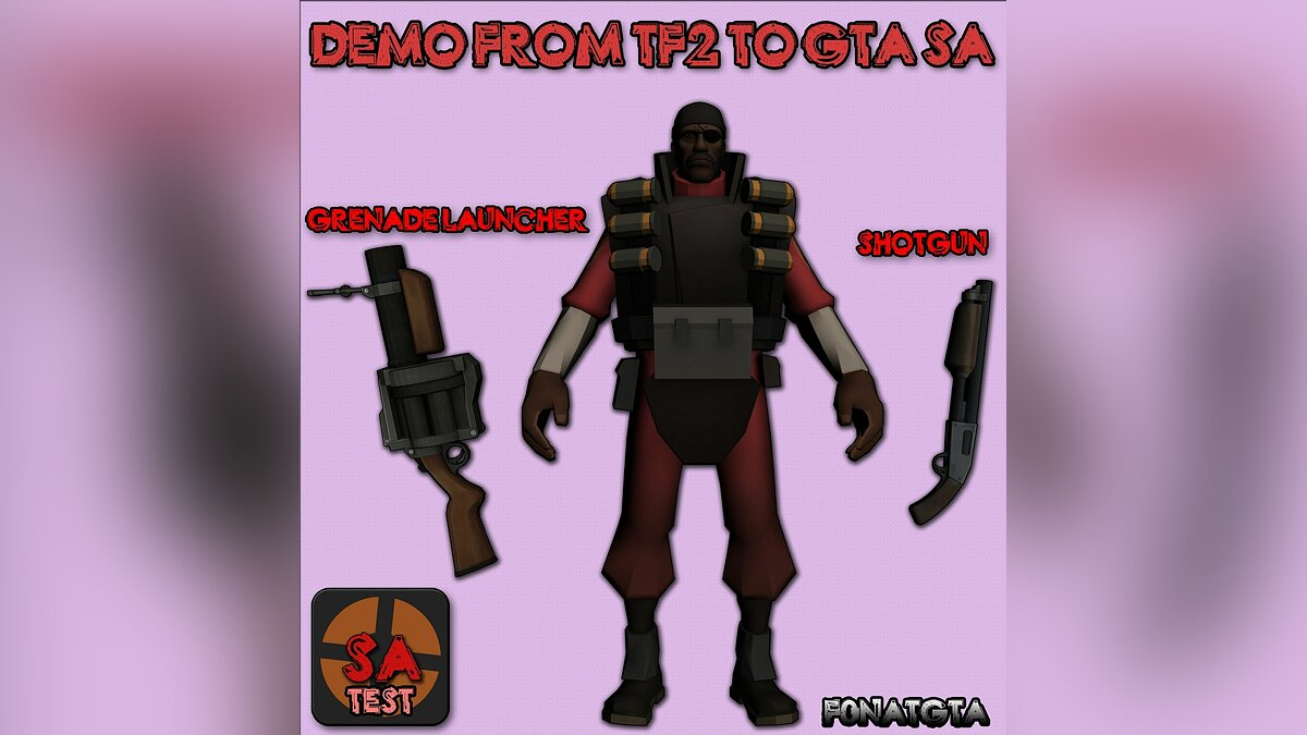 Demo Skin From TF2 to GTASA (test) для GTA San Andreas