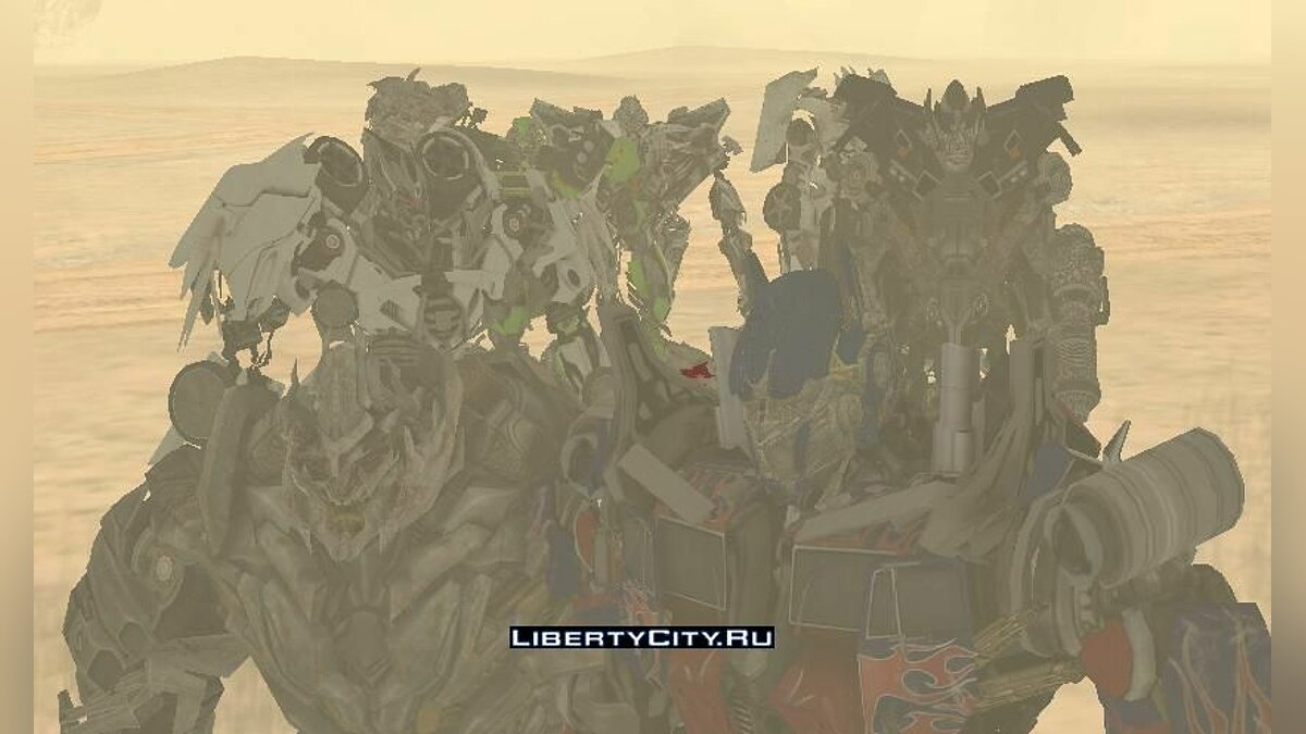 ��овый персонаж Transformers 3 Dark of the moon the game пак для GTA San Andreas
