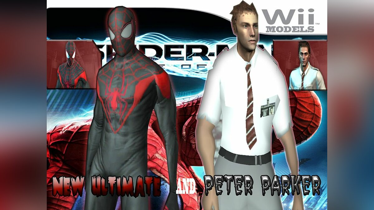 New ultimate and Peter Parker для GTA San Andreas