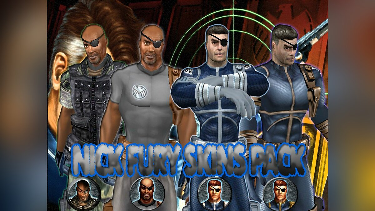 Nick Fury skins pack для GTA San Andreas