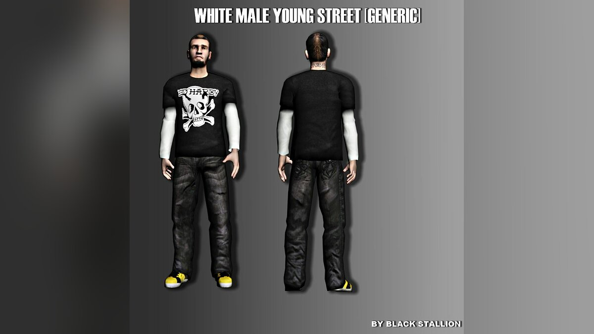 White Male Young Street [GEN, LS] для GTA San Andreas