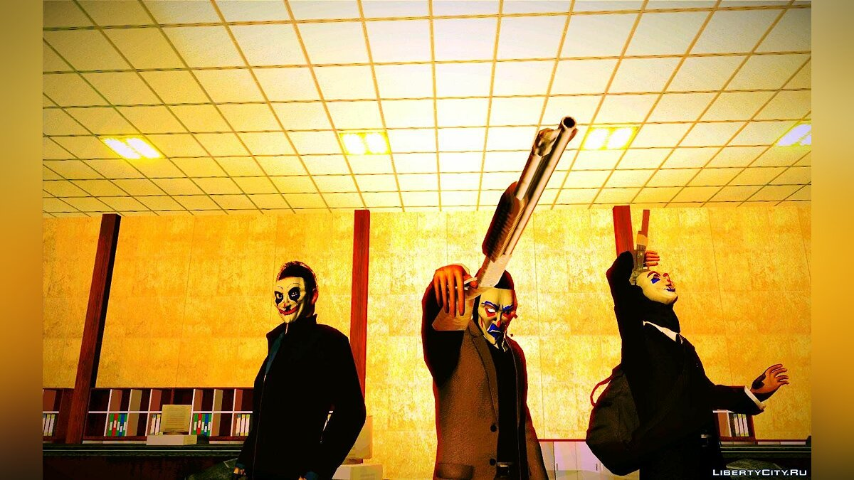 Happy mask ped (From dark knight) для GTA San Andreas