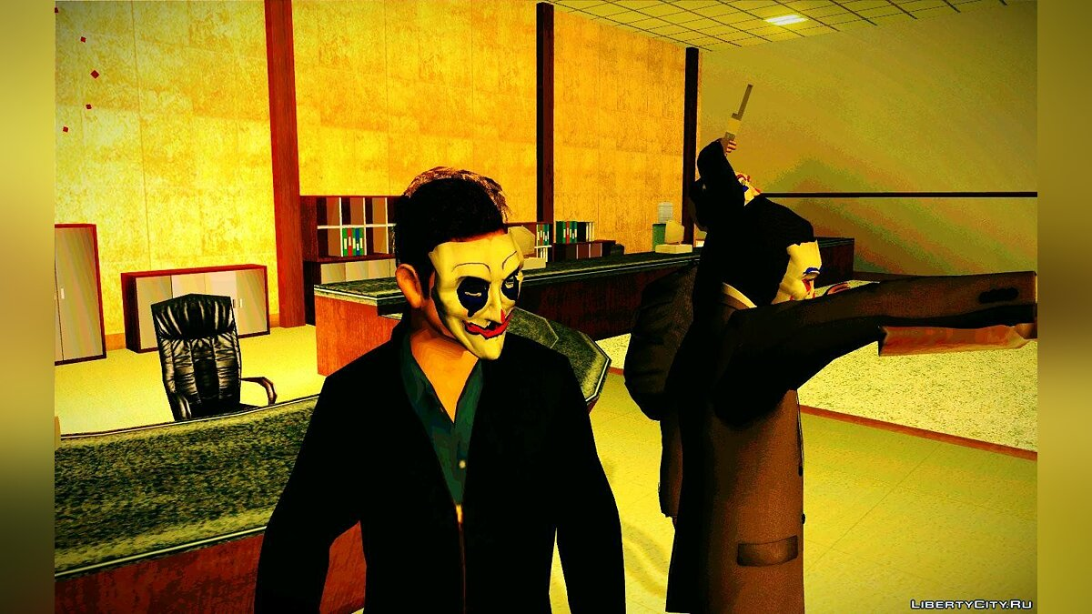 Happy mask ped (From dark knight) для GTA San Andreas - скриншот #4