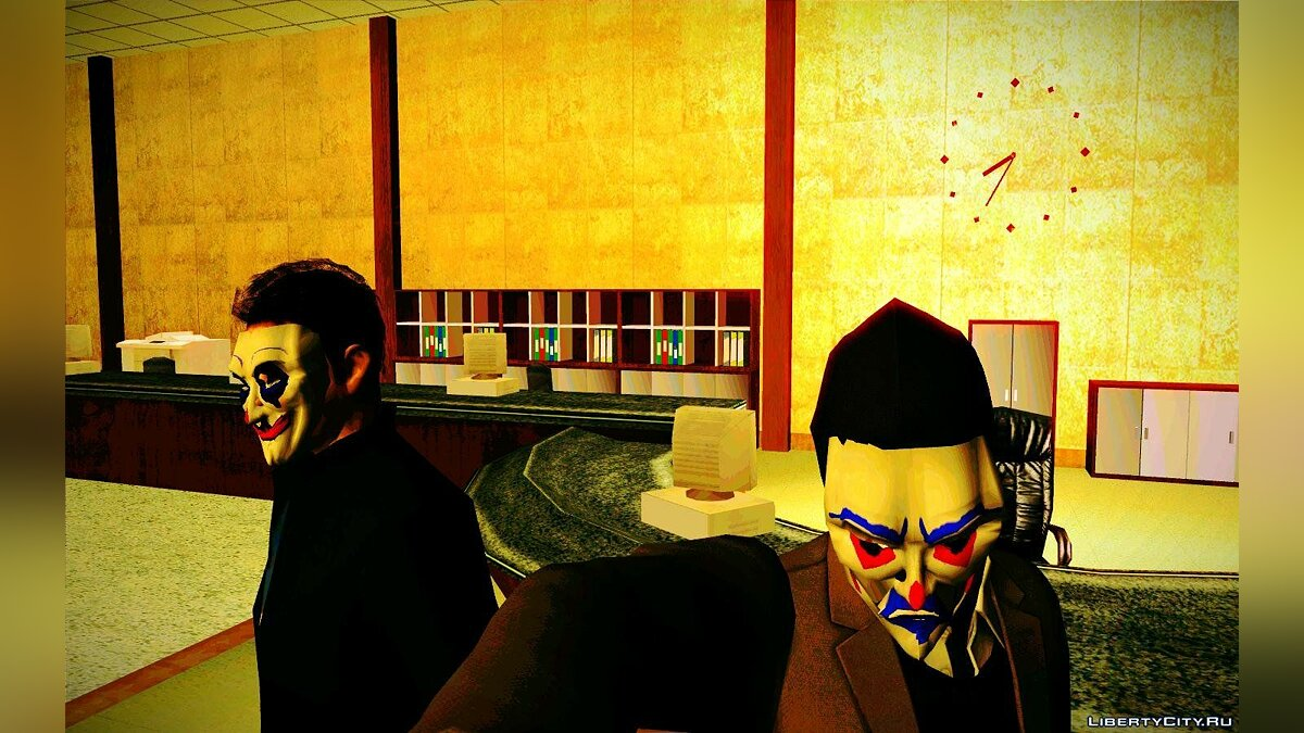 Happy mask ped (From dark knight) для GTA San Andreas - скриншот #3