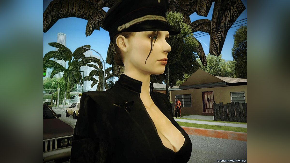 Army girl from war times+normal map для GTA San Andreas - Картинка #2