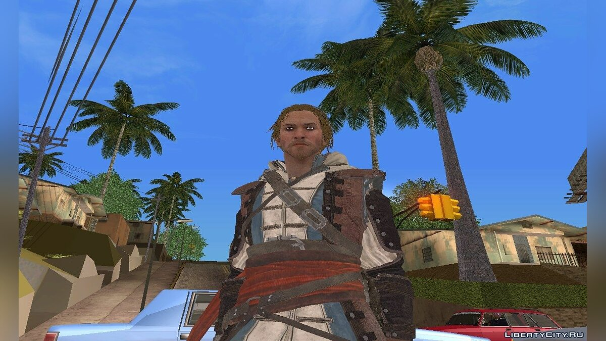 Edward Kenway without hood для GTA San Andreas