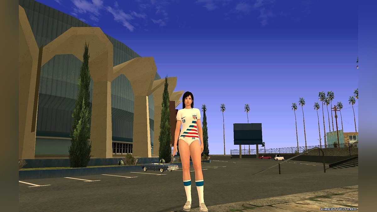 Новый персонаж Kokoro United States Women's National Soccer Team для GTA San Andreas
