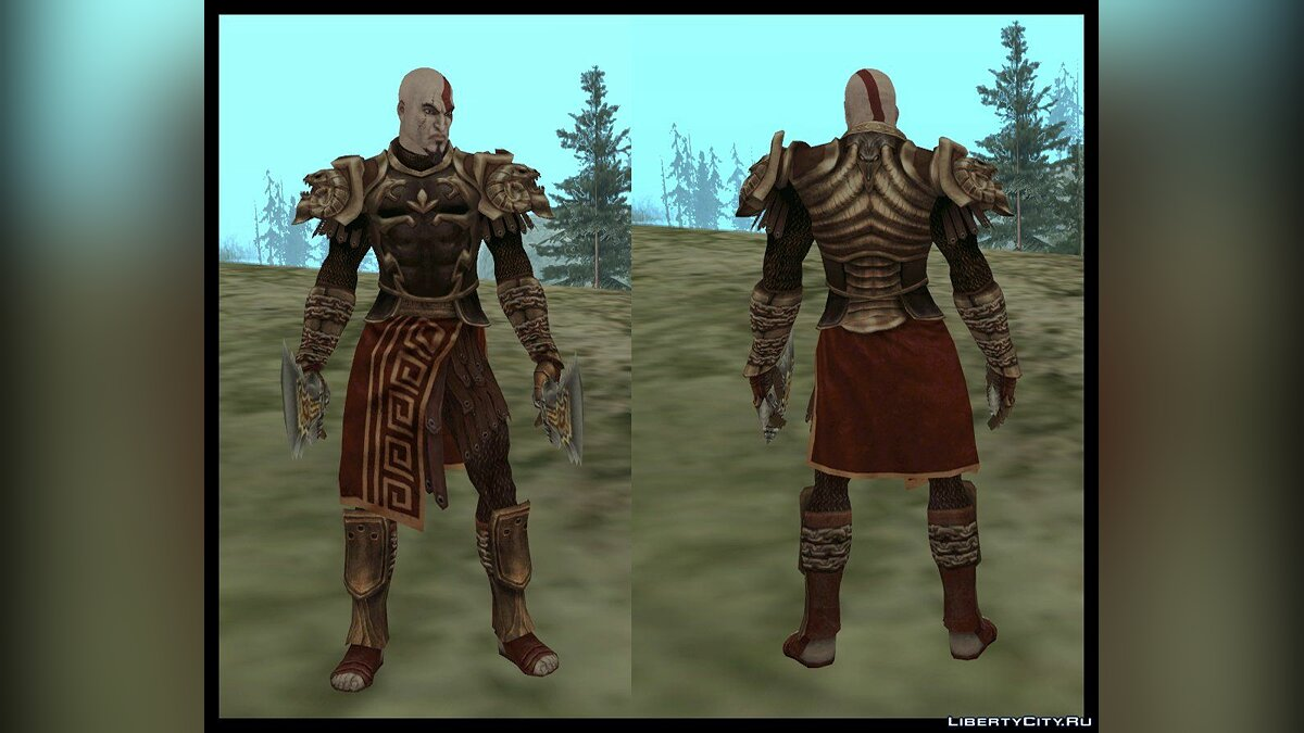 Kratos God Armor [SA] для GTA San Andreas
