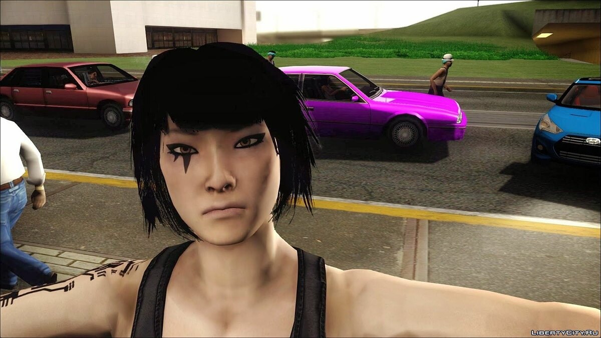 Mirror Edge Faith HD для GTA San Andreas