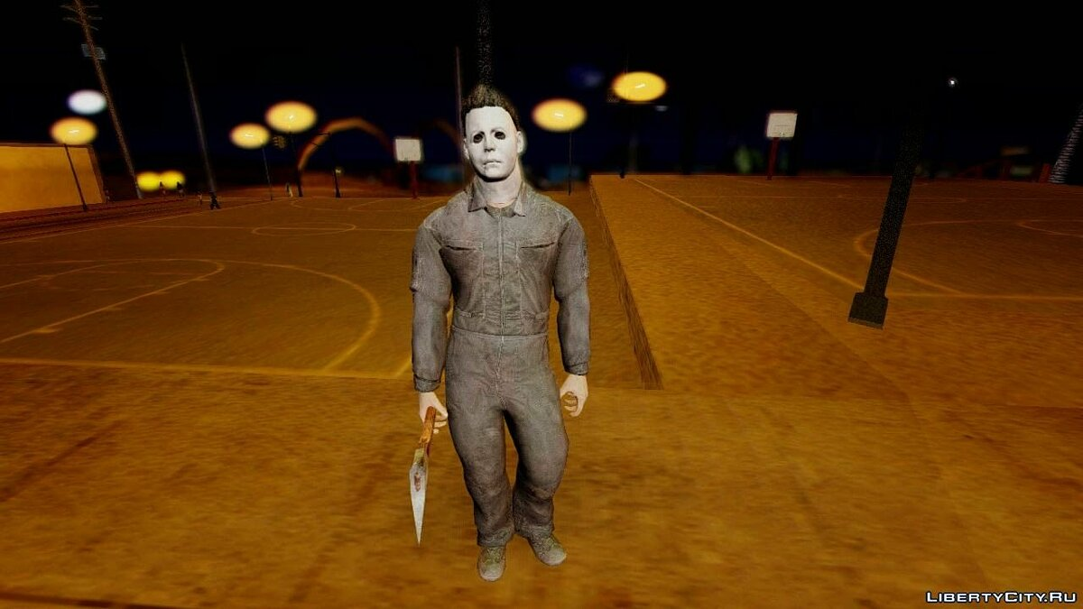 Cod Ghosts DLC Michael Myers from Halloween для GTA San Andreas