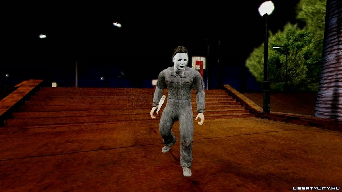 Cod Ghosts DLC Michael Myers from Halloween для GTA San Andreas - скриншот #2