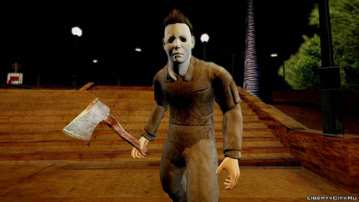 Cod Ghosts DLC Michael Myers from Halloween для GTA San Andreas - скриншот #3