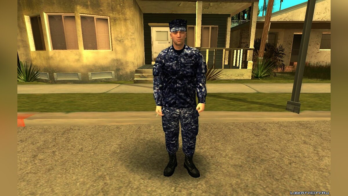 Новый персонаж US Navy Without Equipment для GTA San Andreas