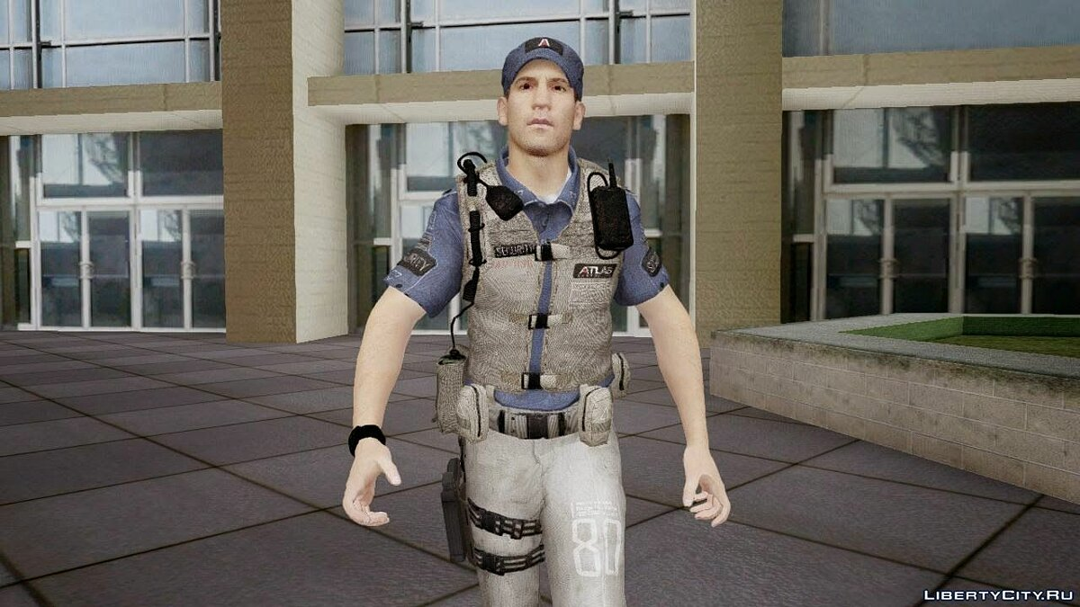 COD Advanced Warfare Jon Bernthal Security Guard(Shane from The Walking Dead) для GTA San Andreas