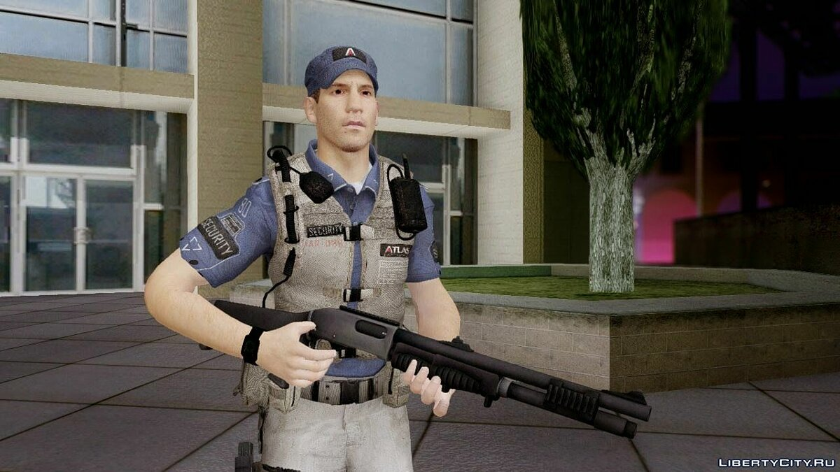 COD Advanced Warfare Jon Bernthal Security Guard(Shane from The Walking Dead) для GTA San Andreas - скриншот #2
