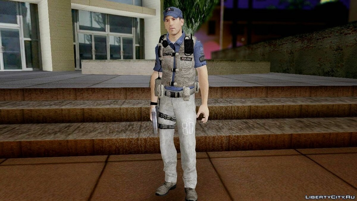 COD Advanced Warfare Jon Bernthal Security Guard(Shane from The Walking Dead) для GTA San Andreas - скриншот #4