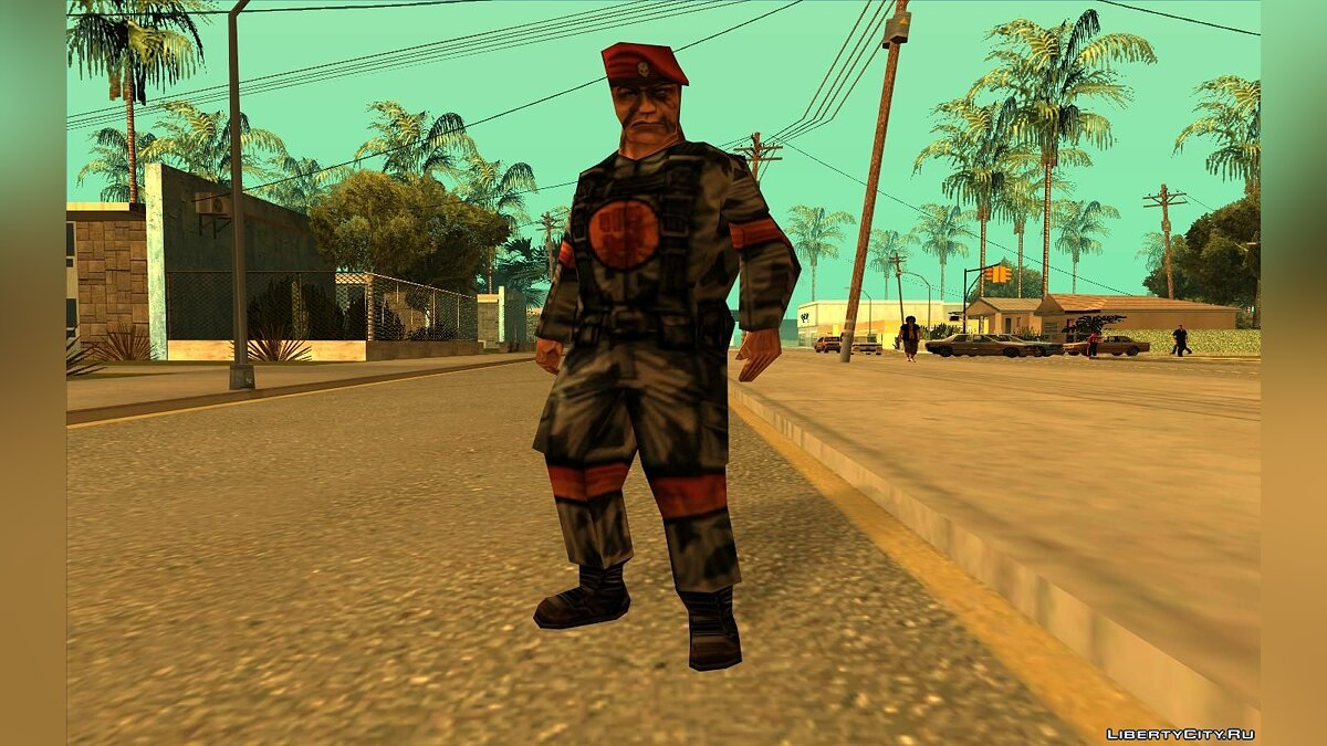 Soldier From Team Fortress Classic (Red) для GTA San Andreas - скриншот #2