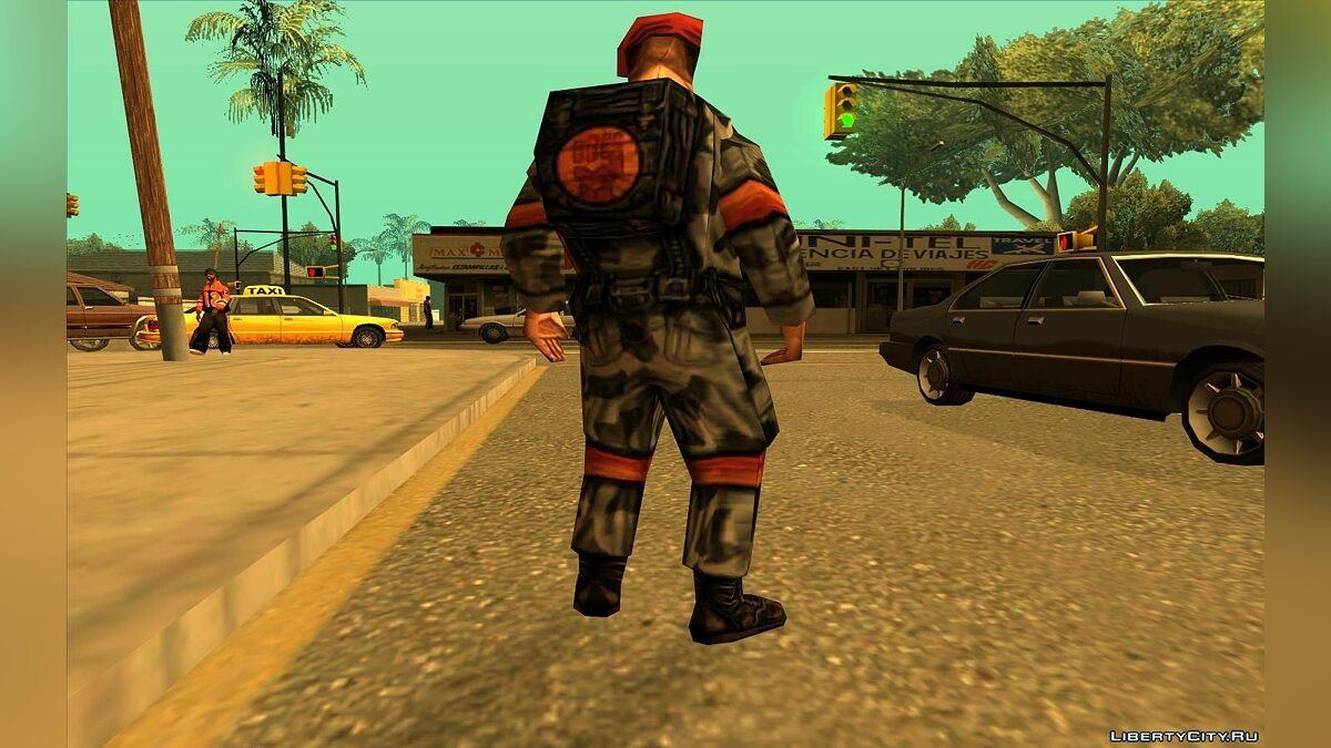 Soldier From Team Fortress Classic (Red) для GTA San Andreas - скриншот #3