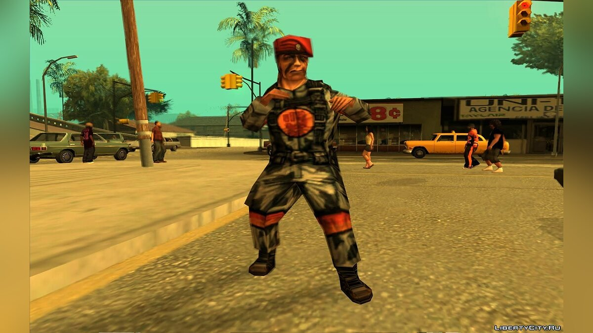 Soldier From Team Fortress Classic (Red) для GTA San Andreas - скриншот #4